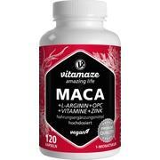 MACA 10:1 hochdosiert+L-Arginin+OPC+Vit.vegan Kps.