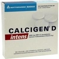 Calcigen D Intens 1000 Mg 880 I.e.kautabletten   20 Stück