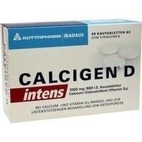 Calcigen D Intens 1000 Mg 880 I.e.kautabletten   48 Stück