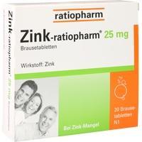 ZINK-RATIOPHARM 25 mg Brausetabletten