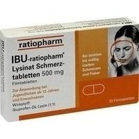 IBU-RATIOPHARM Lysinat Schmerztabl.500 mg