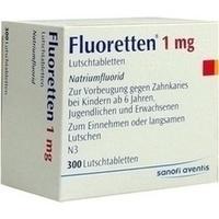 FLUORETTEN 1,0 mg Tabletten