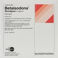 BETAISODONA Wundgaze 10x10 cm