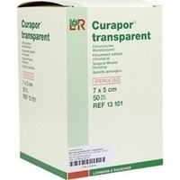 CURAPOR Wundverband steril transparent 5x7 cm