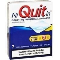 NIQUITIN Clear 14 mg transdermale Pflaster