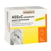 ASS + C ratiopharm gegen Schmerzen Brausetabletten**