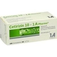 CETIRIZIN 10-1A Pharma Filmtabletten