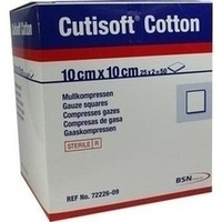CUTISOFT Cotton Kompr.10x10 cm ster.12fach