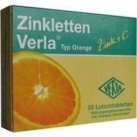 ZINKLETTEN Verla Orange Lutschtabletten
