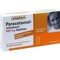 PARACETAMOL ratiopharm 500 mg Kindersuppositorien