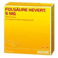 FOLSÄURE HEVERT 5 mg Ampullen