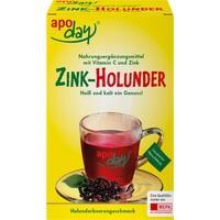 APODAY Holunder Vitamin C+Zink zuckerfrei Pulver