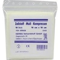 ZELLSTOFF MULLKOMPRESSEN 10x10 cm unsteril