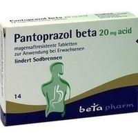PANTOPRAZOL beta 20 mg acid magensaftres.Tabletten