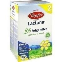Töpfer Lactana Bio Folgemilch 2 Pulver 600 G