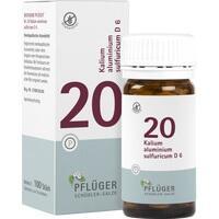 Biochemie Pflüger Nr. 20 Kalium Aluminium Sulfuricum D6 Tabletten