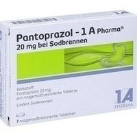PANTOPRAZOL-1A Pharma 20mg bei Sodbrennen msr.Tab.