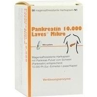 PANKREATIN 10.000 Laves Mikro magensaftres.Kapseln