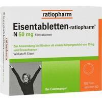 EISENTABLETTEN ratiopharm N 50 mg Filmtabletten