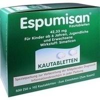 ESPUMISAN Kautabletten f.bildgebende Diagnostik
