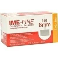 IME FINE Universal Pen Kanülen 31 G 8 mm