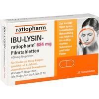 IBU LYSIN ratiopharm 684 mg Filmtabletten**