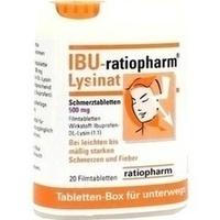 IBU RATIOPHARM Lysinat Schmerztabl.500 mg Box