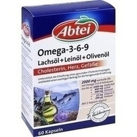 ABTEI Omega-3-6-9 Lachsöl+Leinöl+Oliv.Öl Kapseln