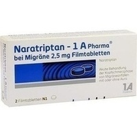 NARATRIPTAN 1A Pharma bei Migräne 2,5 mg Filmtabl.
