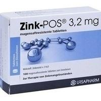 ZINK POS 3,2 mg magensaftresistente Tabletten