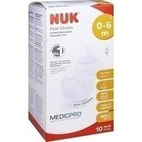 NUK First Choice Einmal-Trinksauger TPE 0-6 Mon./M