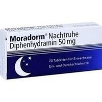 MORADORM Nachtruhe Diphenhydramin 50 mg Tabletten