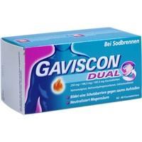 GAVISCON Dual 250mg/106,5mg/187,5mg Kautabletten