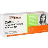 CALCIUM-RATIOPHARM 500 mg Kautabletten