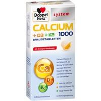 DOPPELHERZ Calcium 1000+D3+K2 system Brausetabl.