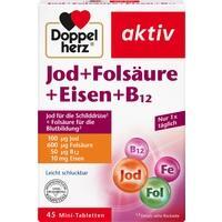 DOPPELHERZ Jod+Folsäure+Eisen+B12 Tabletten