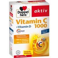 DOPPELHERZ Vitamin C 1000+Vitamin D Depot Tabl.