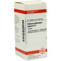 STIBIUM SULFURATUM NIGRUM D 4 Tabletten