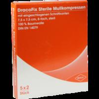 DRACOFIX PEEL Kompressen 7,5x7,5 cm steril 8fach