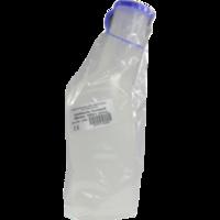 URINFLASCHE Mann Kunststoff 1 l m.Verschl.milchig