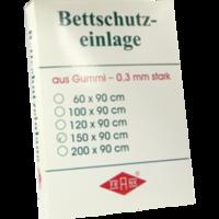 BETTEINLAGE Gummiplatte 0,3 mm 90x150 cm weiß