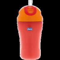 CHICCO Strohhalm Trinklernflasche 266 ml 18 M rot