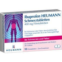 Abbildung von Ibuprofen Heumann Schmerztabletten 400mg Filmtable  Filmtabletten
