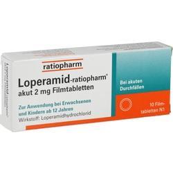 Abbildung von Loperamid-ratiopharm Akut 2mg Filmtabletten