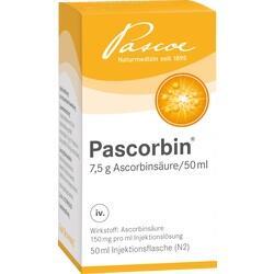 Abbildung von Pascorbin (7.5g Ascorbinsäure 50ml)  Injektionslösung