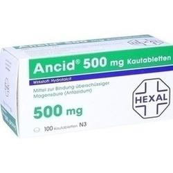 Abbildung von Ancid 500mg  Kautabletten