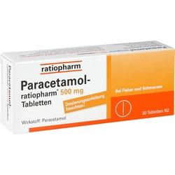 Abbildung von Paracetamol-ratiopharm 500mg Tabletten