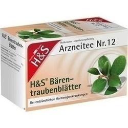 Abbildung von H&s Baerentraubentee  Filterbeutel