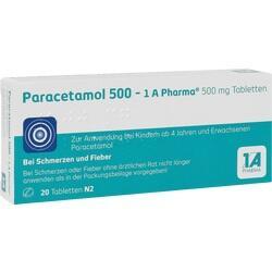 Abbildung von Paracetamol 500 - 1 A Pharma  Tabletten