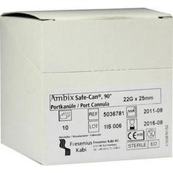 Abbildung von Ambix Safe-can Portpunktionskan. Gebogen 22gx25mm  Kanülen